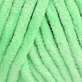 * fil velours vert anis *