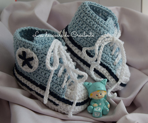 """Chaussons basket style """"Converse"""""""