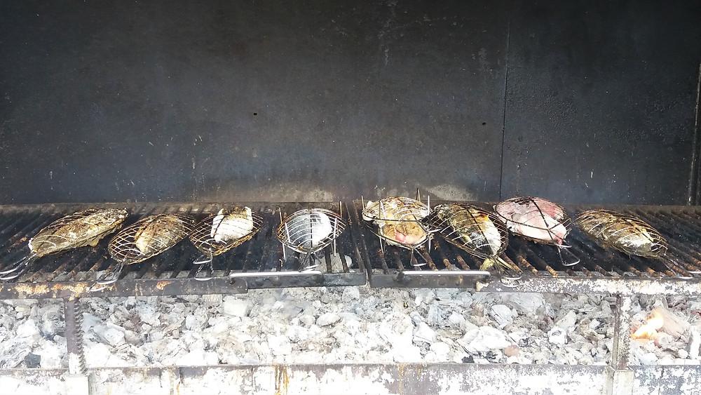 Рыба на гриле одного из ресторанов Гетарии (Страна Басков)