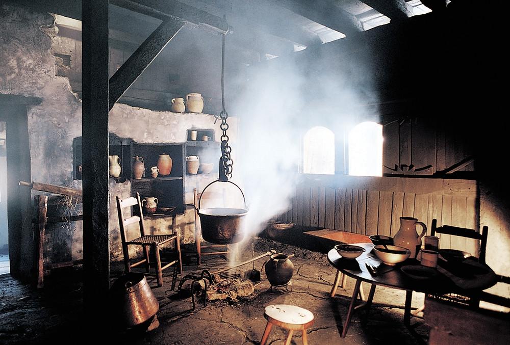 Кухня в доме-музее Igartubeiti Baserria
