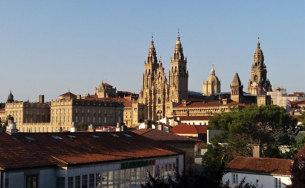 Вид на Кафедральный собор в Сантьяго-де-Компостела
