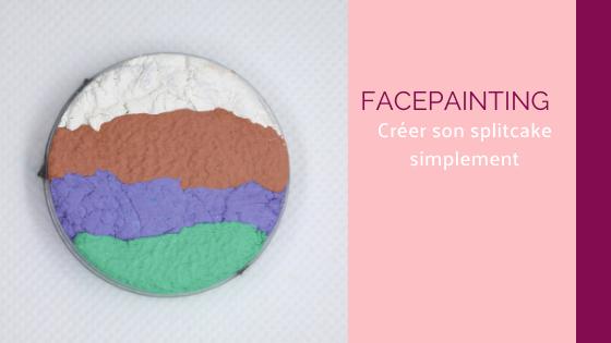 splitcake maquillage arc en ciel bodypainting facepainting peinture corporelle