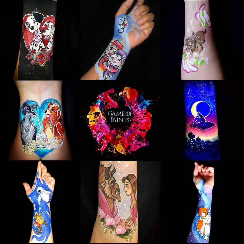 Disney characters facepainting bodypainting maquillage artistique