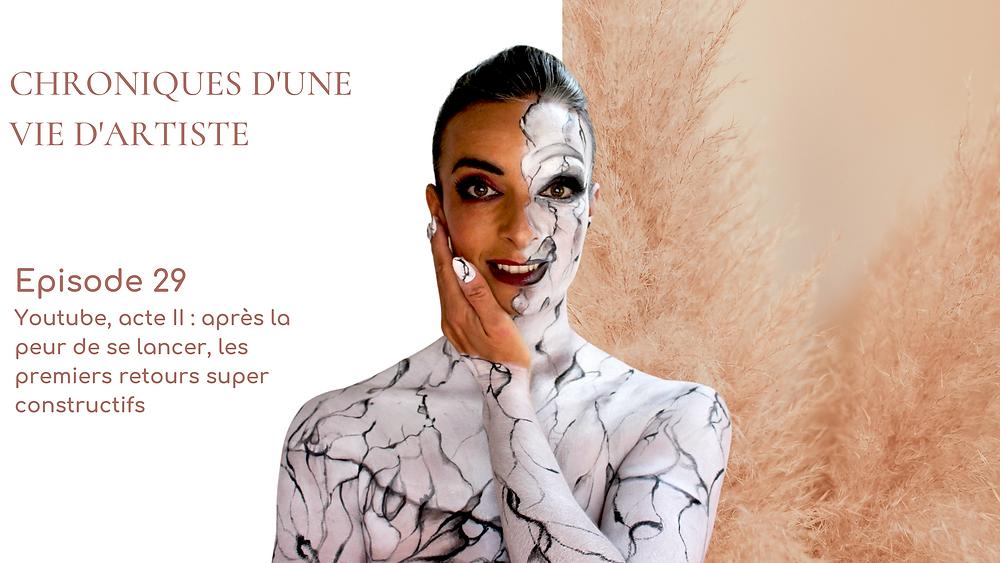 maquillage artistique effet marbre