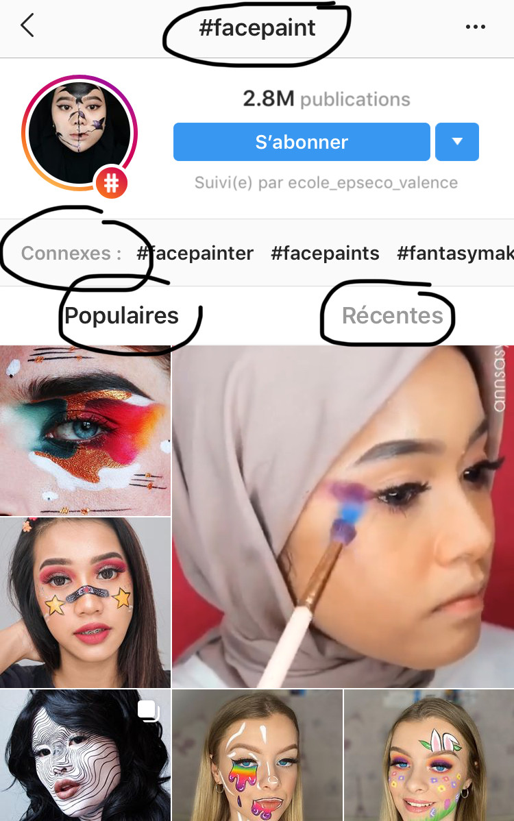 réseaux sociaux feed instagram