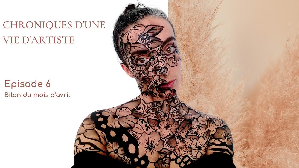 maquillage chronique vie artiste fleurs sur peau
