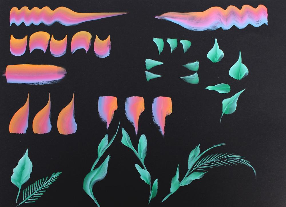 facepainting pratique artistique feuilles