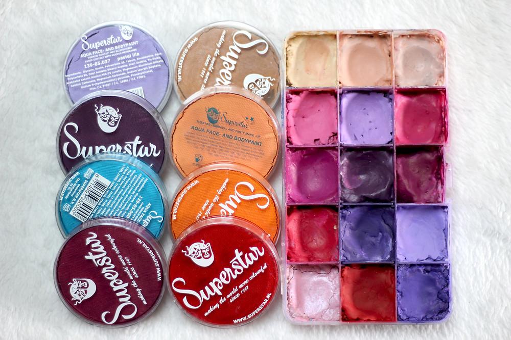 maquillage artistique couleurs chaudes