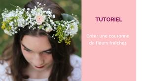 Crée ta couronne de fleurs fraîches