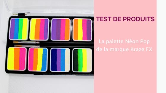 palette de maquillage très colorée