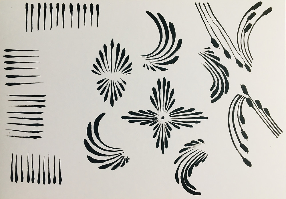 facepainting practice board teardrops spirales pratique artistique