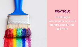 A quel type de défi artistique participer ?      3 challenges intéressants et ultra créatifs.