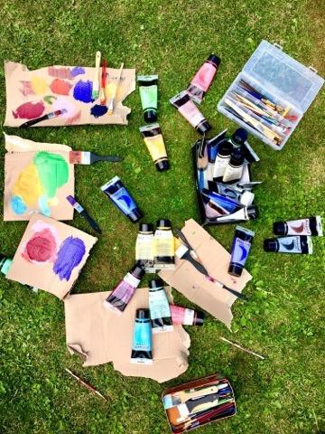 tubes de peinture vie d'artiste