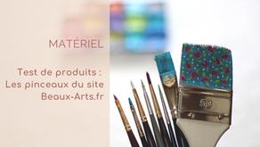 J'ai testé les pinceaux du magasin Beaux-Arts.fr
