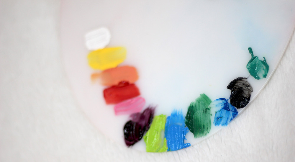 palette peinture maquillage couleurs