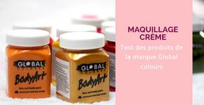 Facepainting : les maquillages-crème de la marque Australienne Global Colours