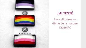 Maquillage artistique facile : les splitcakes de la marque de facepainting Kraze Fx