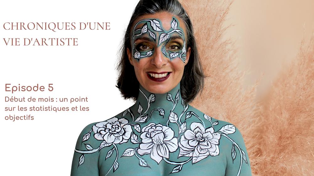 chronique vie artiste maquillage fleurs