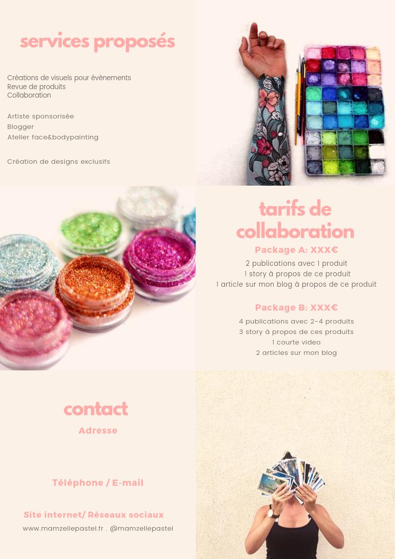 media kit réseaux sociaux maquillage artistique