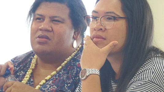 Lora Waqabitu and Angee Nicholas of West Auckland Branch