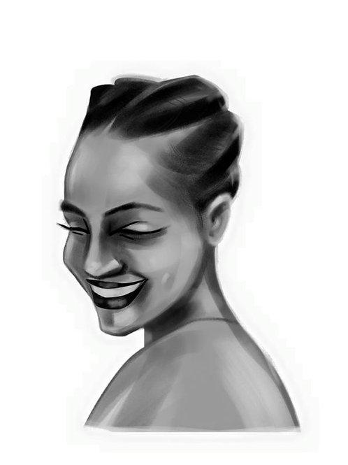 Retrato de mujer Nº1, Lydia Mba