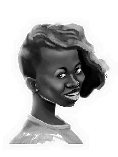 Retrato de mujer Nº2, Lydia Mba