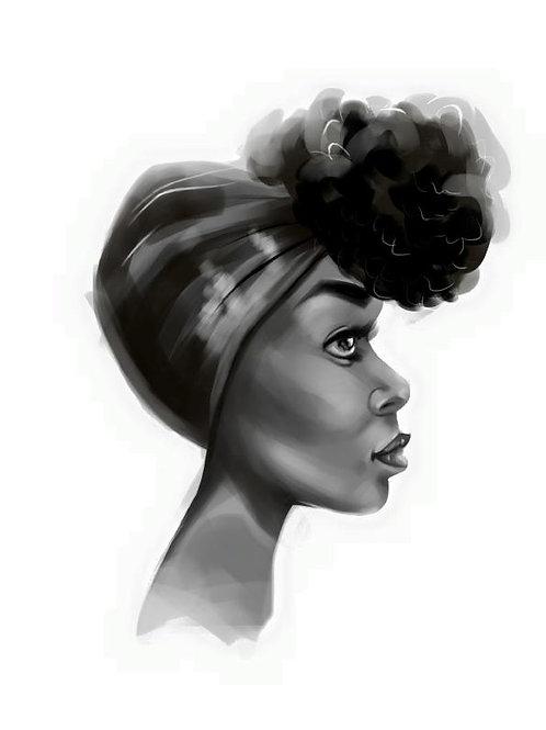 Retrato de mujer Nº3, Lydia Mba