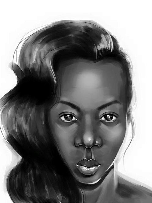 Retrato de Yasmina Soraya, Lydia Mba