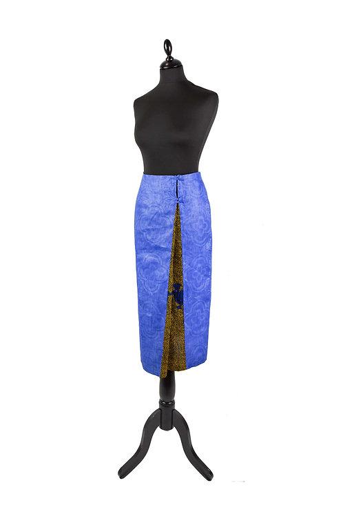 Falda midi con tablón