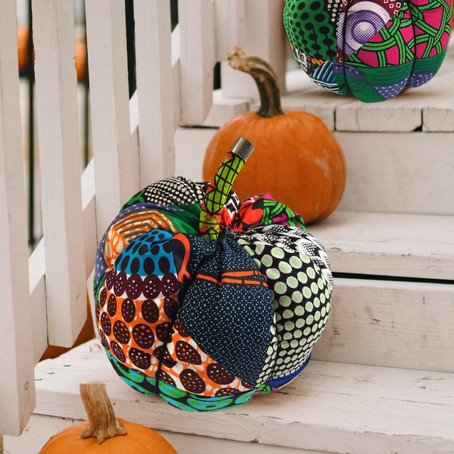 Scrap Fabric Pumpkin
