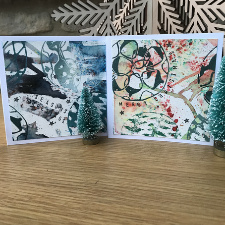 Lino Cut Christmas Cards