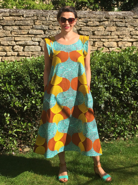 'Celestial Dress' in African Print