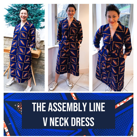 'V' Neck Dress - The Assembly Line