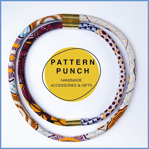 African Print Fabric Necklace