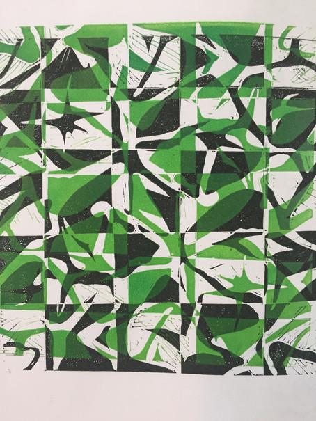 'Pineapple' Lino Print
