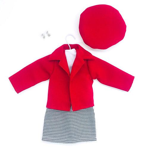 Vestido Traje Sastre Rojo