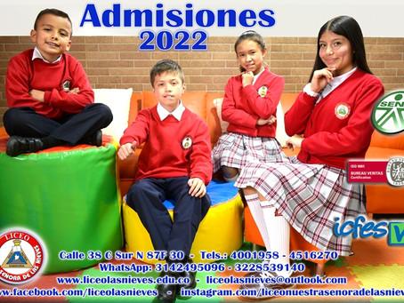 Se encuentra abierto el proceso de admisiones para la vigencia 2022