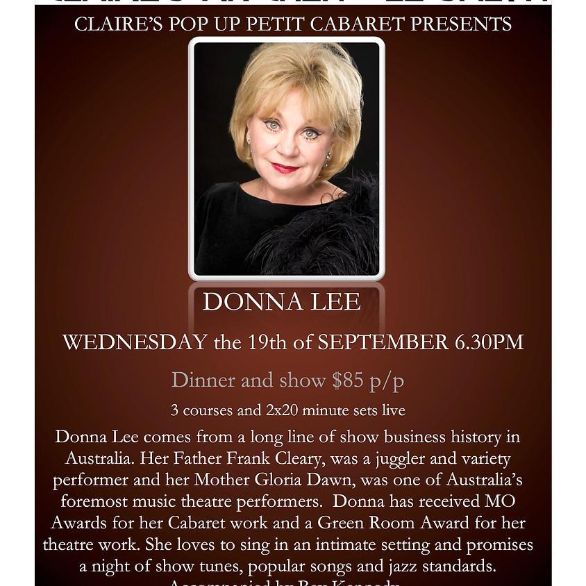 Claire's Pop Up Petit Cabaret presents Donna Lee