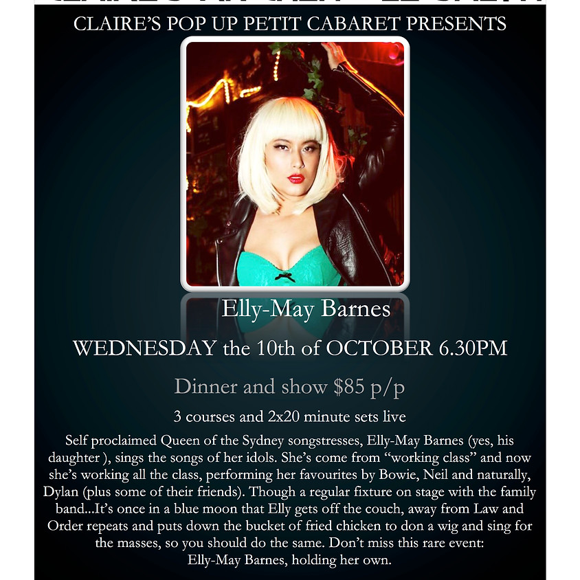 Claire's Pop Up Petit Cabaret presents Ally May Barns