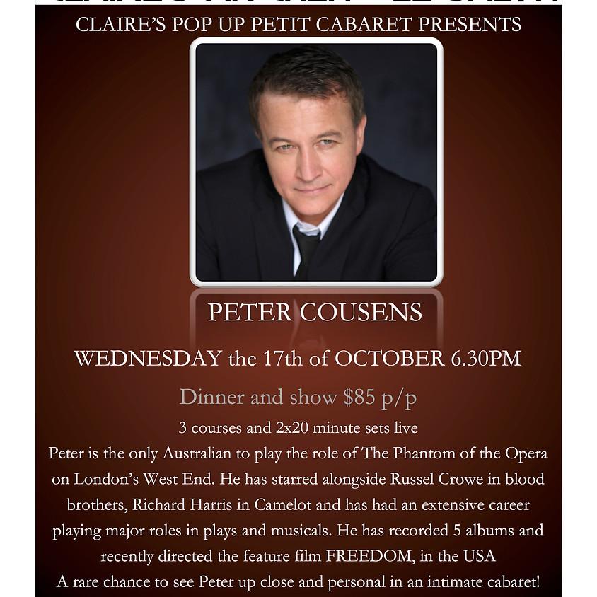 Claire's Pop Up Petit Cabaret presents Peter Cousens