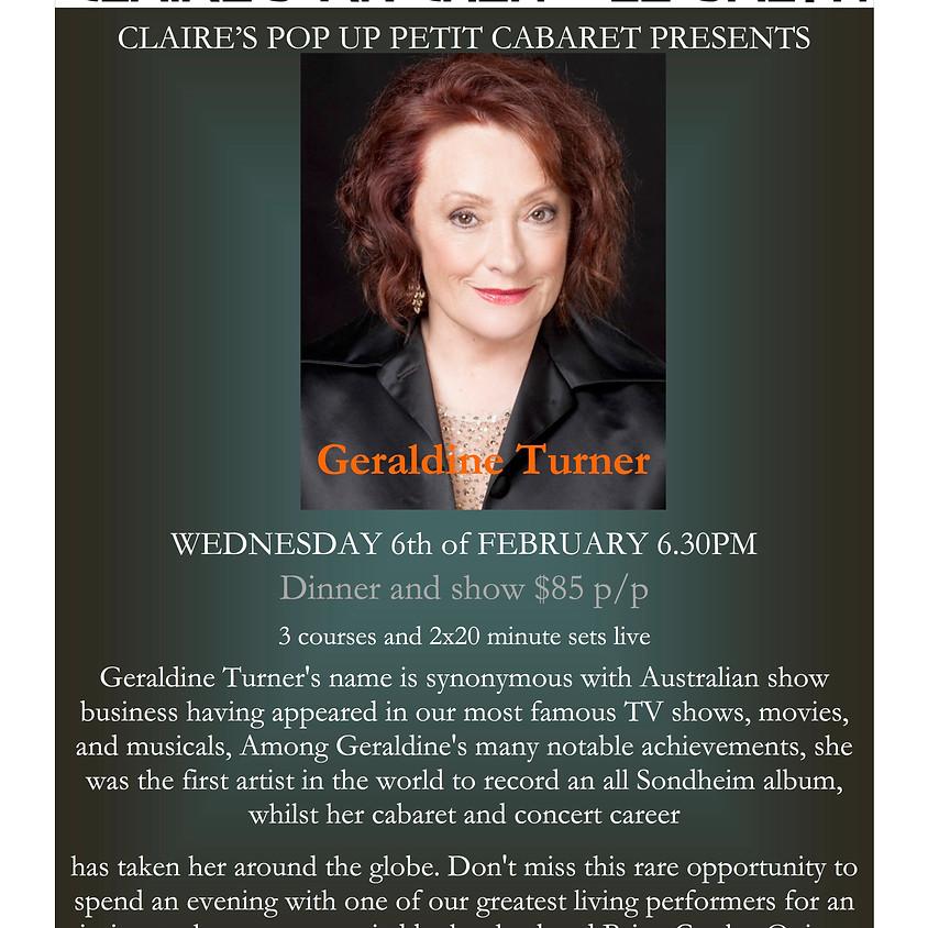 Claire's Pop Up Petit Cabaret presents Geraldine Turner