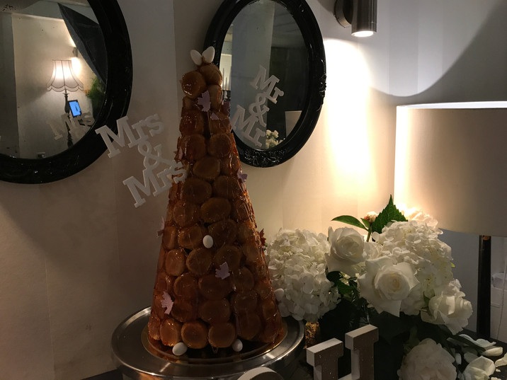 MR &MR and MRS & MRS croquembouche