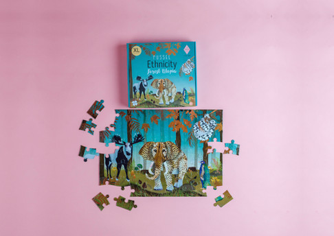 utopia forest puzzle packagin illustrati