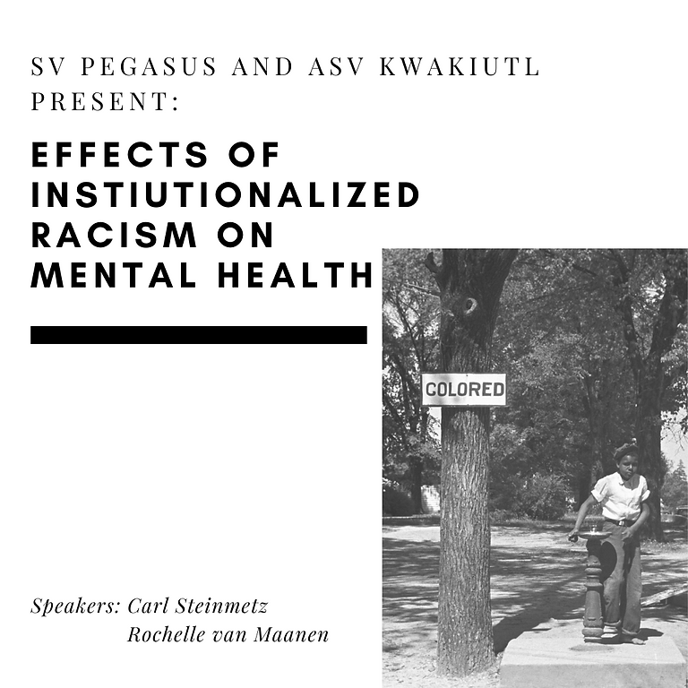 Lecture: Effects of institutionalized racism on mental health