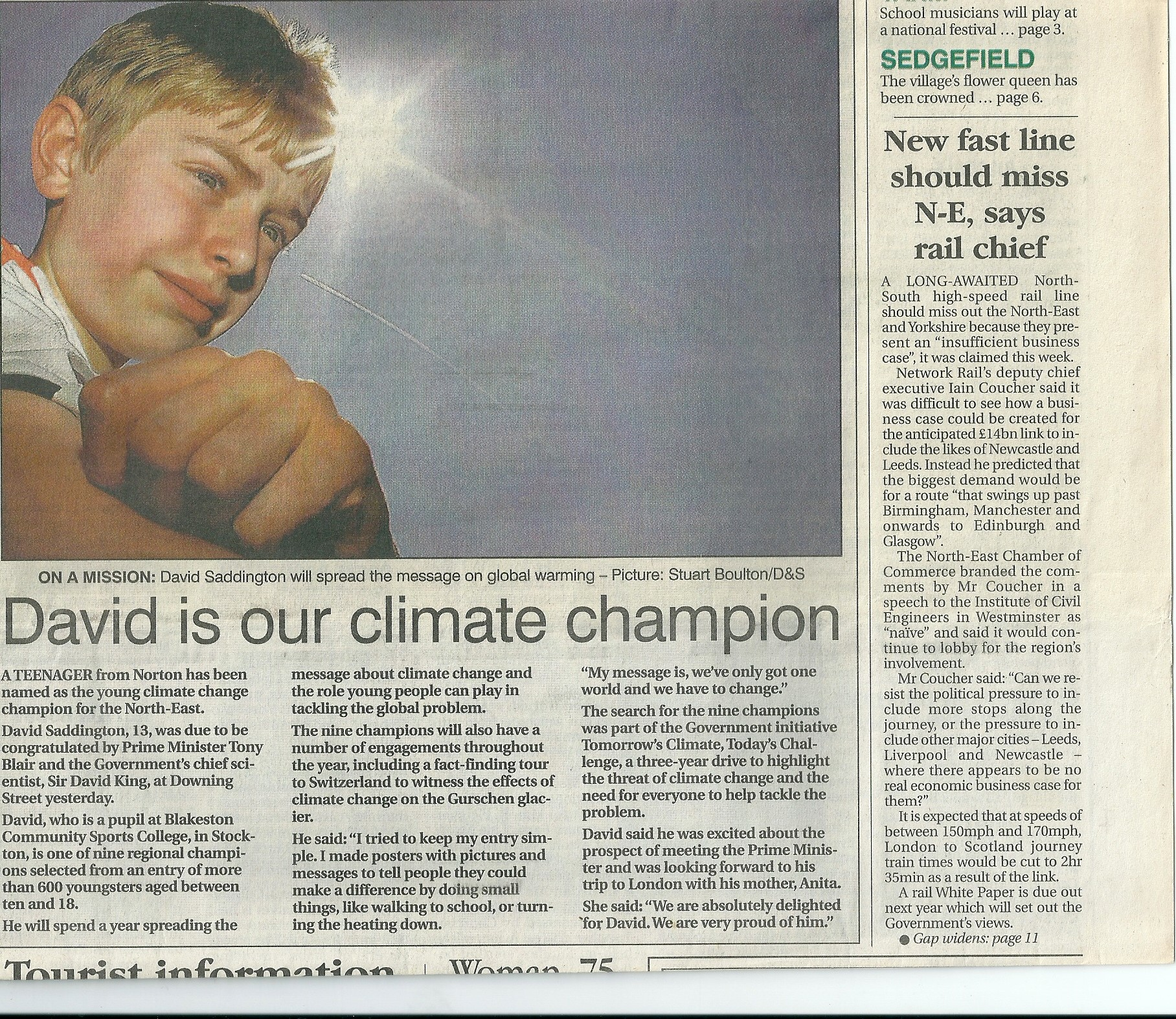 David is our climate champion