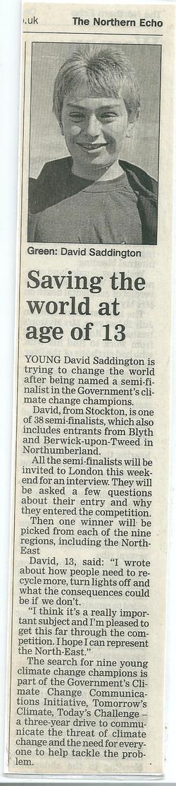 Saving the world at age 13