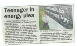 Teenager in energy plea