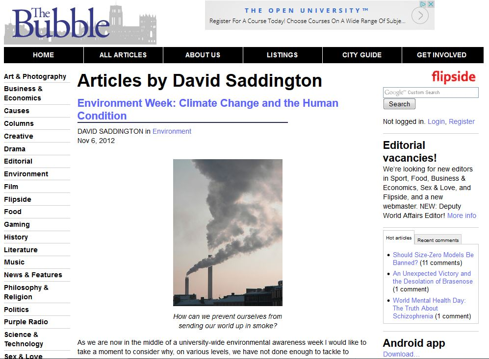 Climate Change & The Human Condition