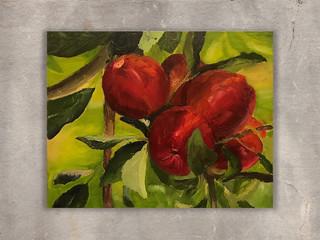תפוחים, ציור שמן