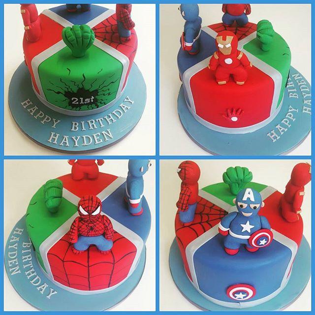 Never too old for Superheroes (borrowed design with minor changes)_#avengerscake #bigkid #superheroc